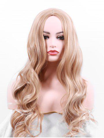 Chic Long Center Parting Wavy Party Synthetic Cosplay Wig