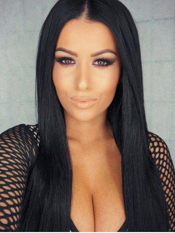 Trendy Long Center Parting Straight Synthetic Wig