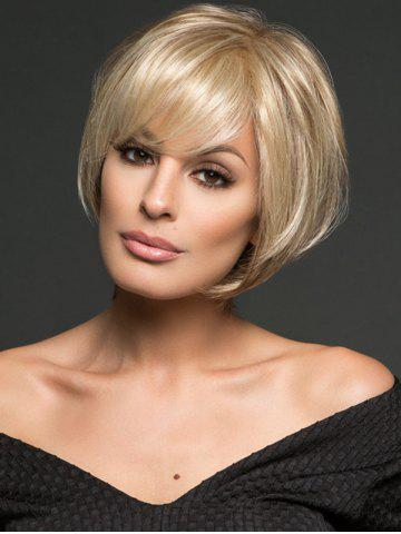 Online Short Inclined Bang Straight Bob Synthetic Wig