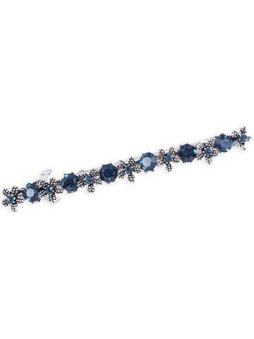 Chic Floral Faux Gem Embellished Hair Pin