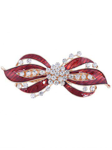 Outfits Rhinestones Inlaid Swirl Floral Hair Clip