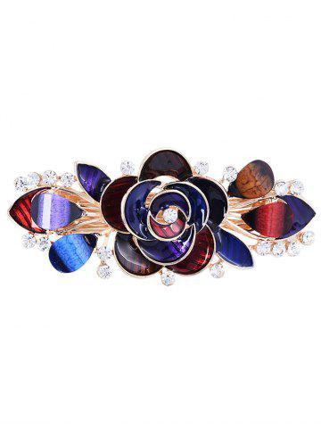 Latest Unique Floral Rhinestone Inlaid Barrette