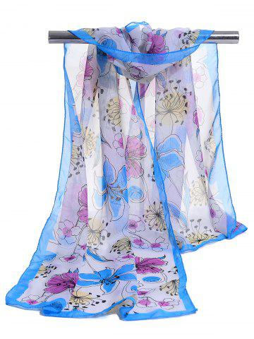 Shops Blooming Floral Pattern Spring Fall Scarf