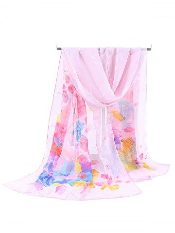 Best Floral Pattern Printed Soft Chiffon Scarf