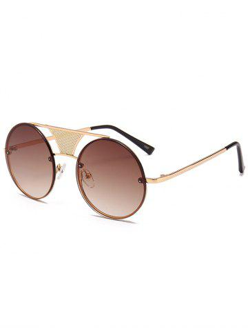 Buy Unique Hollow Out Metal Bar Round Sunglasses