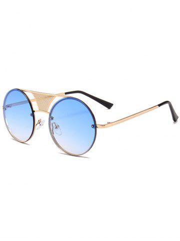 Affordable Unique Hollow Out Metal Bar Round Sunglasses