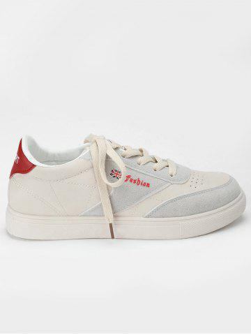 Shops Flag Letter Print Skate Shoes