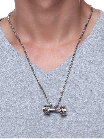 Sale Cool Gear Barbell Pendant Collarbone Necklace