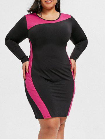 Hot Hit Color Plus Size Tight Dress