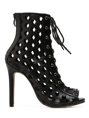 Shops Peep Toe High Heel Bootie Sandals