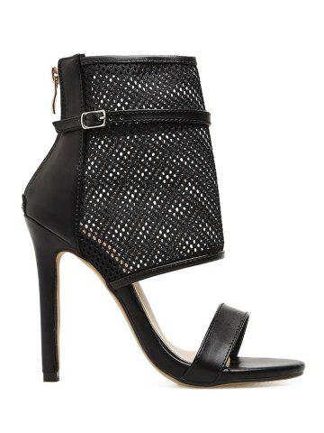 Shop Caged Buckle Strap Accent Gladiator Sandals