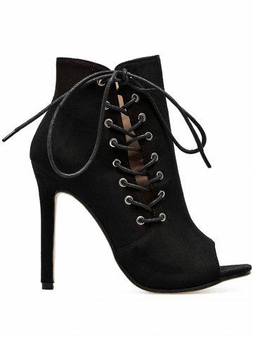 Buy Super High Heel Peep Toe Bootie Sandals