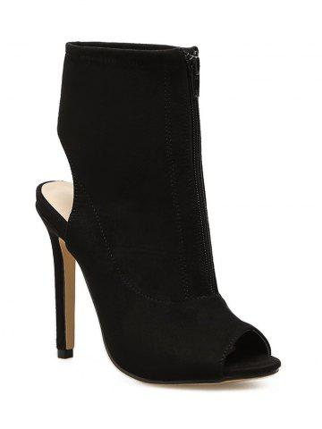 Trendy Peep Toe High Heel Bootie Sandals