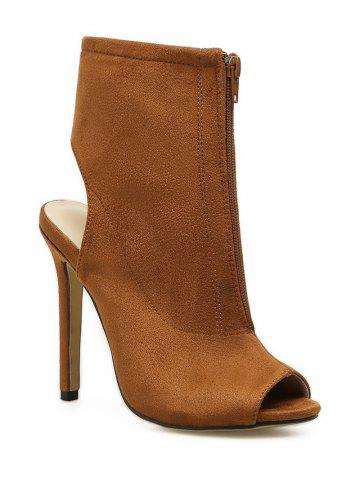 Outfits Peep Toe High Heel Bootie Sandals