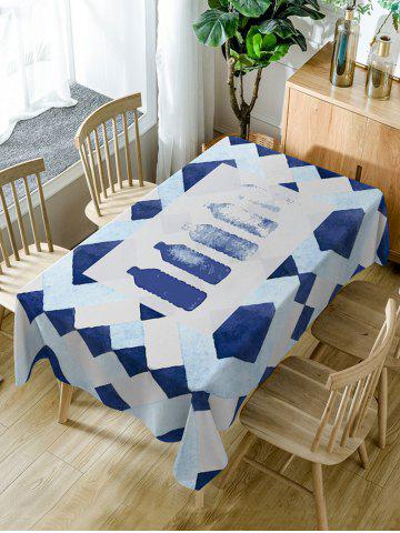 Affordable Bottle Print Waterproof Dining Table Cloth