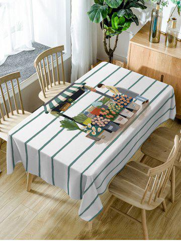 Chic Waterproof Flower Shop and Florist Dining Table Cloth