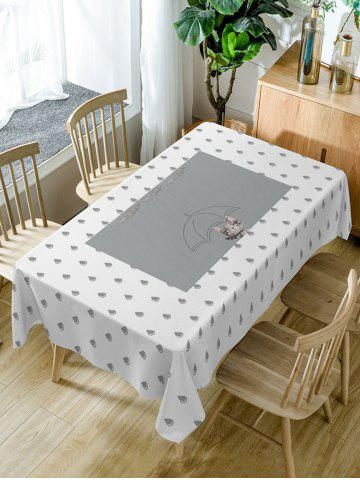 Store Raindrop Print Fabric Waterproof Dining Table Cloth