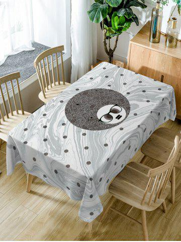 Fancy Big Head Man with Glasses Print Table Cloth
