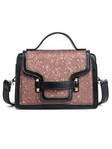 Latest PU Leather Shimmer Crossbody Bag with Handle