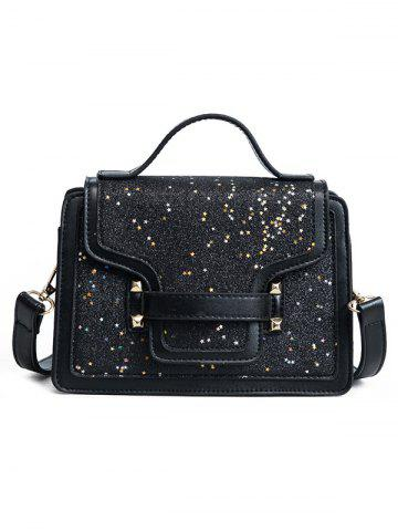 Buy PU Leather Shimmer Crossbody Bag with Handle