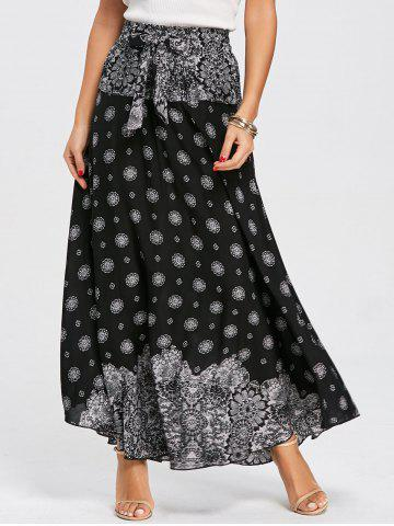 Outfits Print Maxi Flowy Skirt