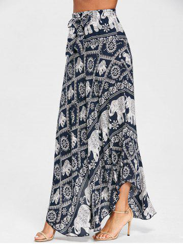 Hot Print Maxi Flowy Skirt
