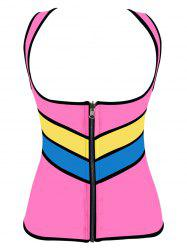 Plus Size Color Block Underbust Training Vest -