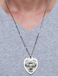 Camouflage Fly Eagle Star Shield Pendant Necklace -