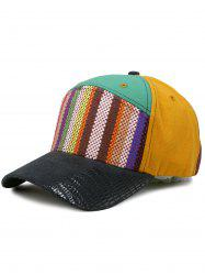 Line Embroidery Colored Baseball Cap -