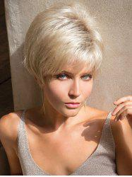 Short Side Bang Layered Straight Colormix Party Synthetic Wig -
