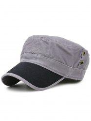 Line Embroidery Adjustable Military Hat -