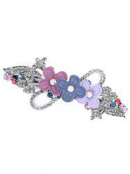 Statement Floral Rhinestone Inlaid Hair Clip -