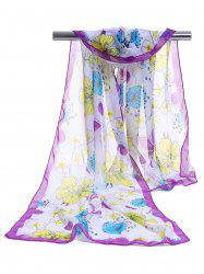 Blooming Floral Pattern Spring Fall Scarf -