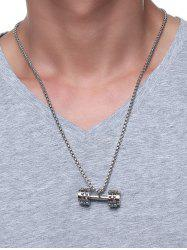 Cool Gear Barbell Pendant Collarbone Necklace -