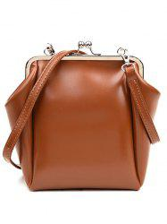 Metal Hasp Crossbody Bag -