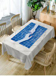 Hand In Hand Print Waterproof Dining Table Cloth -