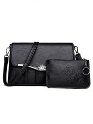 2 Pieces Flapped Crossbody Bag Set -
