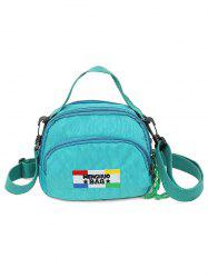 Badge Contrasting Color Crossbody Bag -