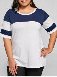 Plus Size Color Block Tunic T-shirt -