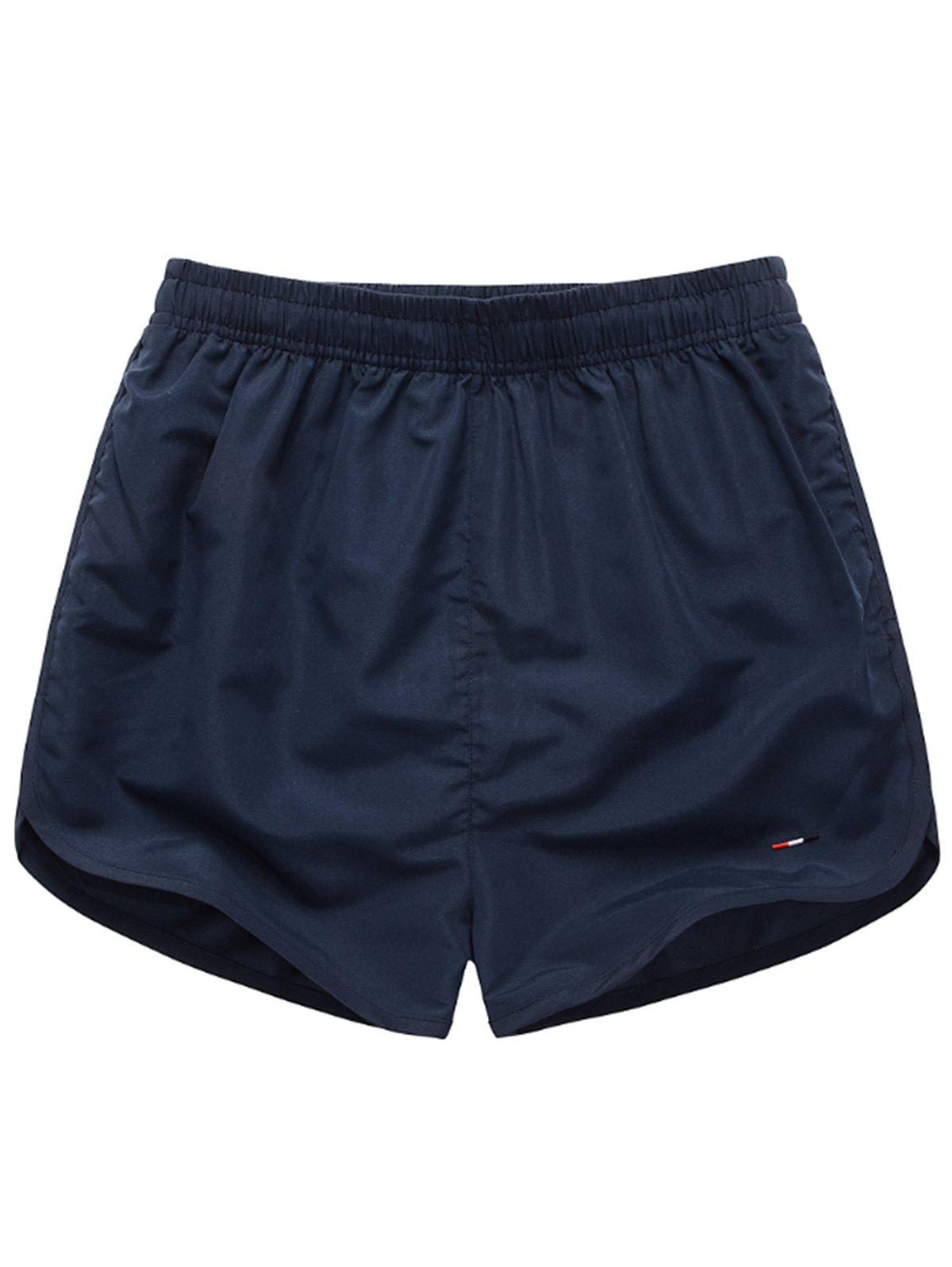 Discount Dolphin Hem Mesh Lined Beach Shorts