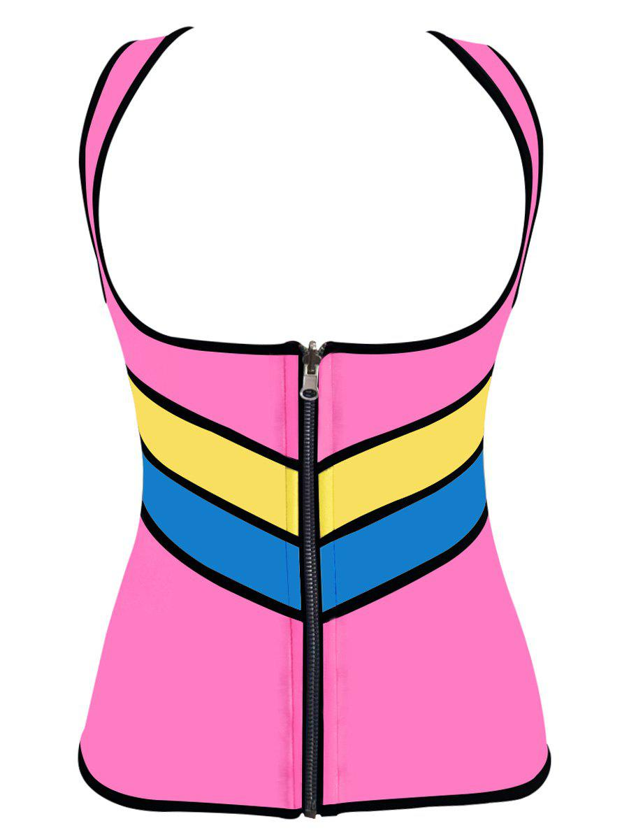Hot Plus Size Color Block Underbust Training Vest