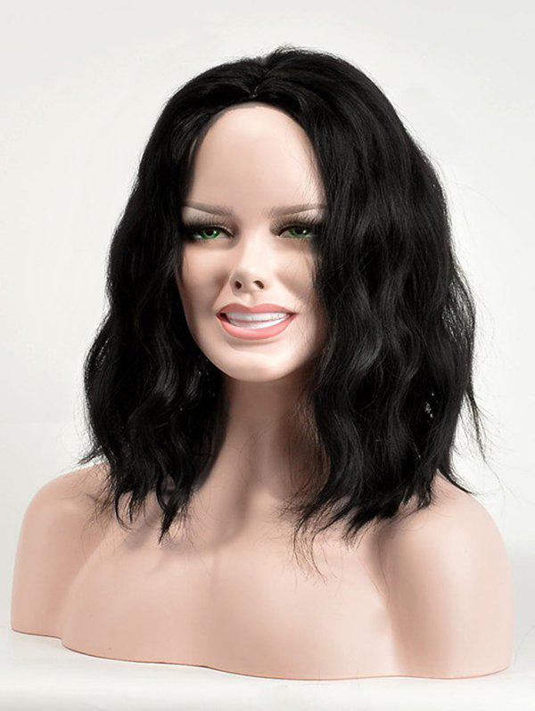 Sale Center Parting Medium Natural Wavy Synthetic Wig