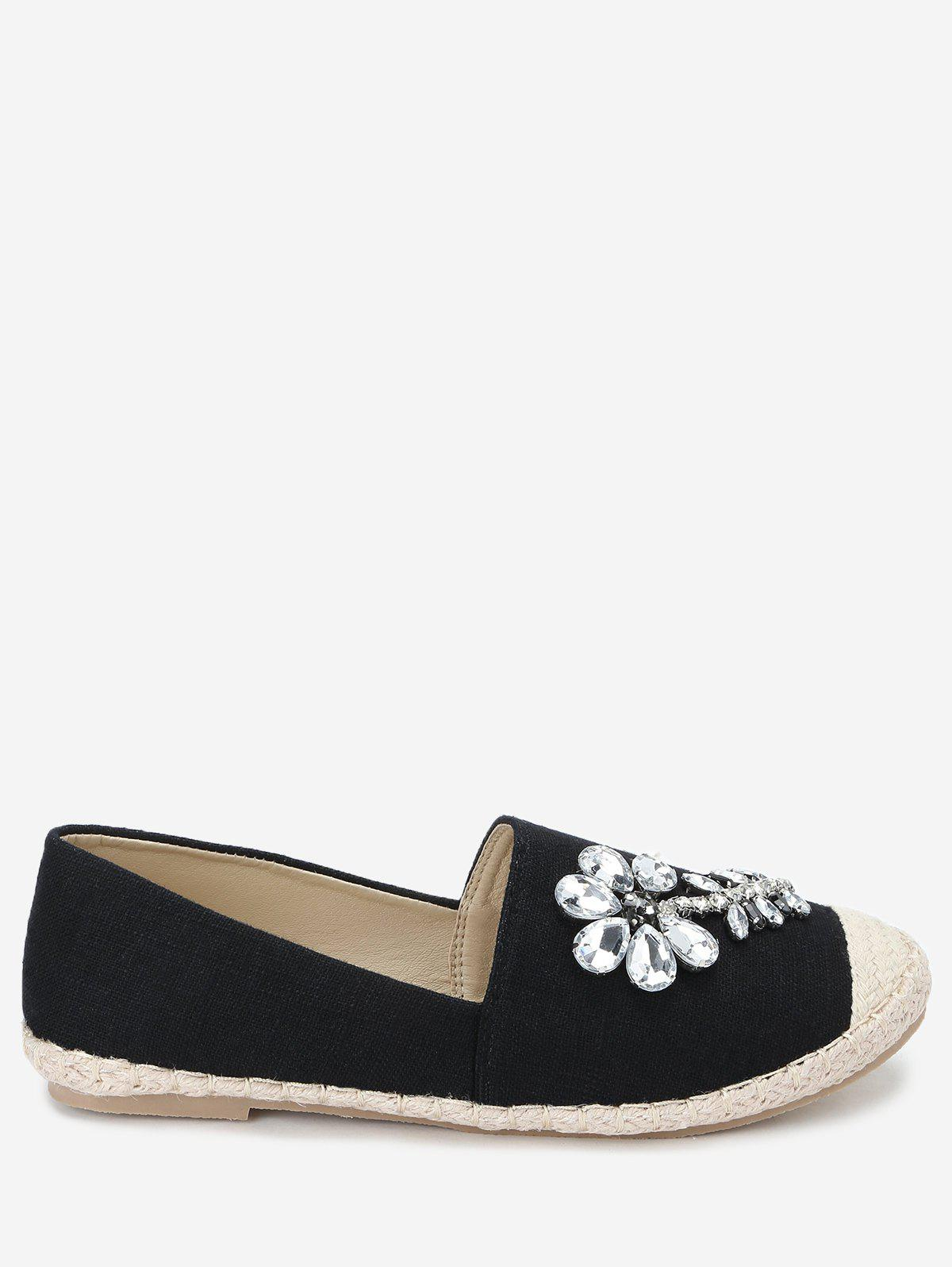 Sale Espadrille Beading Slip On Flats