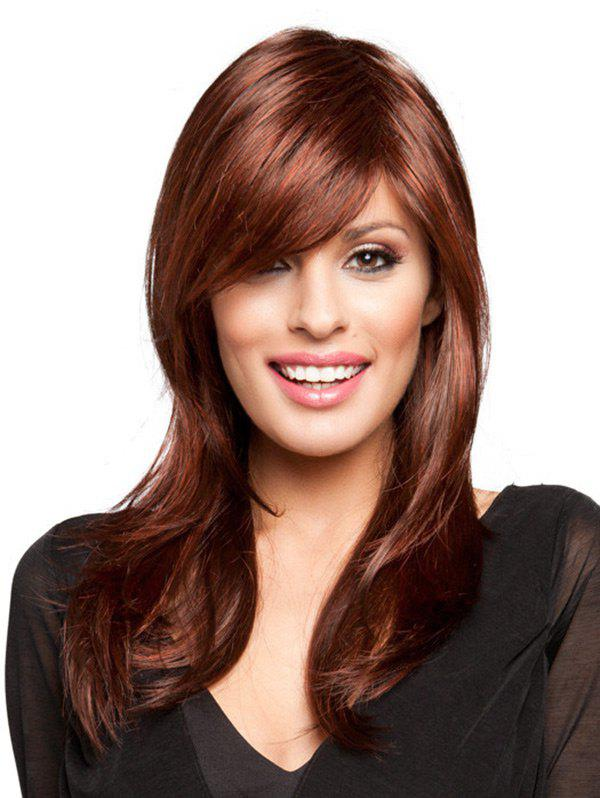 Outfits Long Inclined Fringe Straight Party Synthetic Wig