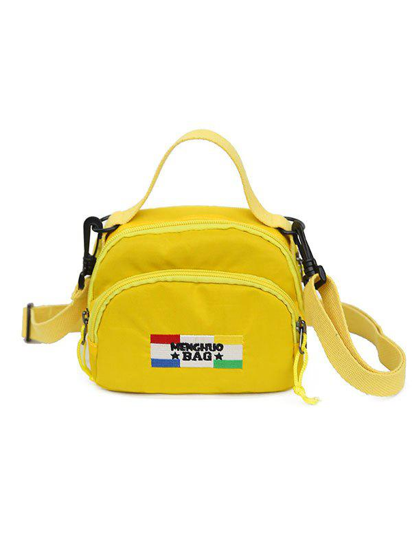 Chic Badge Contrasting Color Crossbody Bag