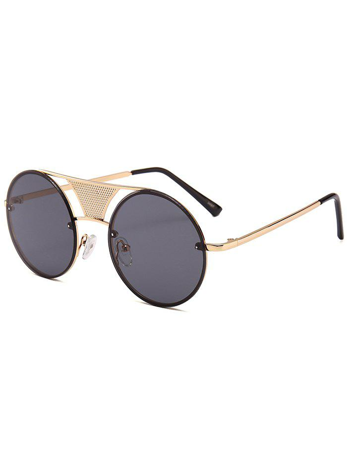 New Unique Hollow Out Metal Bar Round Sunglasses