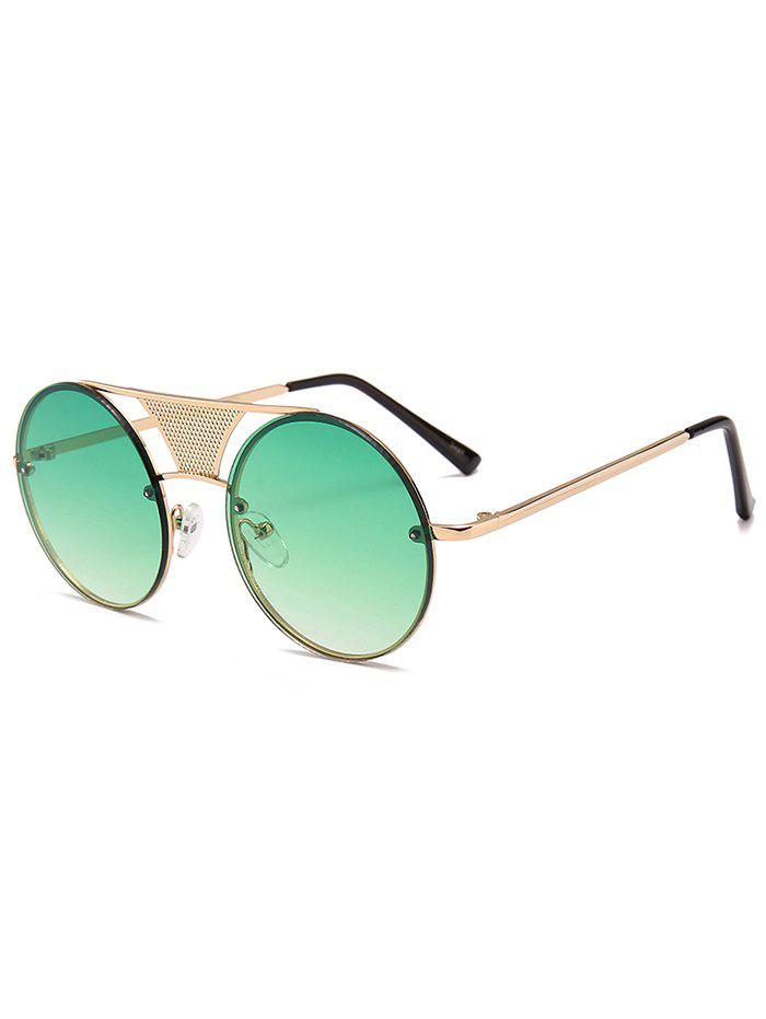 Fancy Unique Hollow Out Metal Bar Round Sunglasses