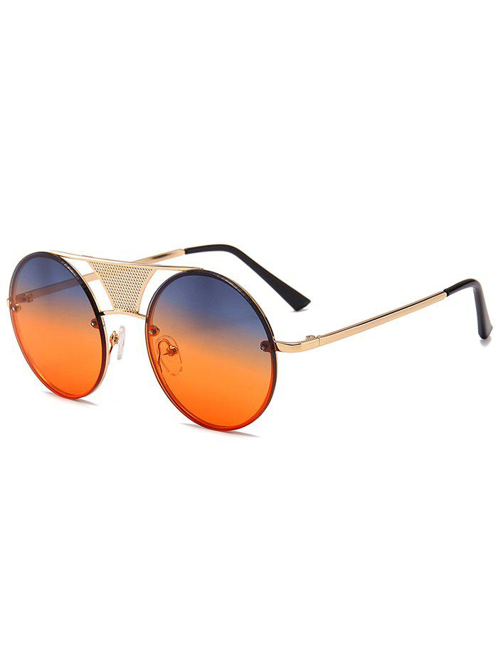 Store Unique Hollow Out Metal Bar Round Sunglasses