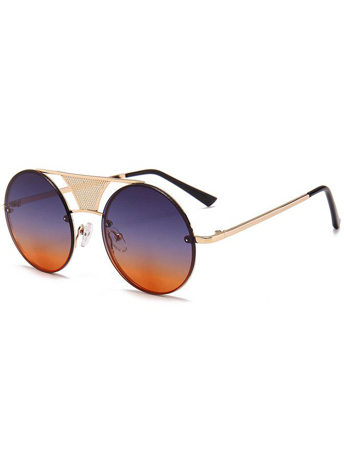 Hot Unique Hollow Out Metal Bar Round Sunglasses