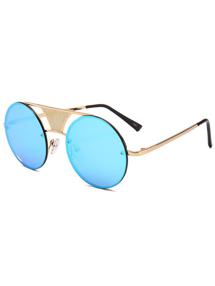 Unique Unique Hollow Out Metal Bar Round Sunglasses